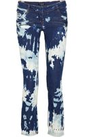 Balmain Mid-rise Splatter-print Straight-leg Jeans - Lyst
