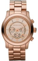 Michael Kors Rose Golden Oversized Chronograph Watch - Lyst