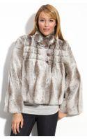Kristen Blake Crop Faux Fur Jacket - Lyst
