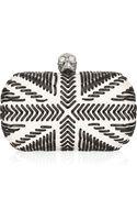 Alexander McQueen Britannia Leather Box Clutch - Lyst