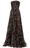 Eastland Strapless Print Gown - Lyst