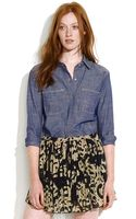 Madewell Perfect Chambray Shirt in Prairie Bloom Wash - Lyst