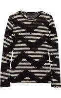 Proenza Schouler Tie-dye Striped Cotton-jersey Top - Lyst