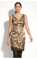 T Tahari Gina Stretch Satin Sheath Dress - Lyst