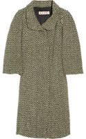Marni Wool-blend Tweed Coat - Lyst