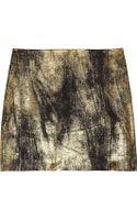 Clemens En August Metallic Silk-crepe Mini Skirt - Lyst