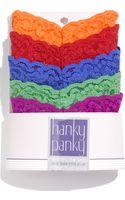 Hanky Panky Petite Rise Thong (5-pack) - Lyst