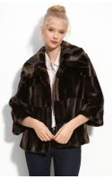 Tahari Tara Faux Fur Coat - Lyst