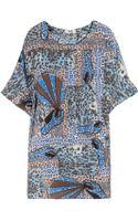 Acne Studios Midra Printed Silk-chiffon Dress - Lyst