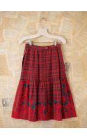 Free People Vintage Silk Plaid Skirt - Lyst