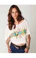 Free People Tribal Graphic Sweater Tee - Lyst