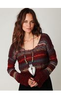 Free People Multi Stripe Pullover - Lyst