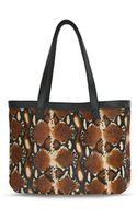 Julie K Handbags Jacqui Tote in Multi Python - Lyst