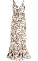 Leaves Of Grass Avignon Printed Silk Dress - Lyst