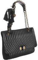 Lanvin Black Quilted Leather Happy Shoulder Bag - Lyst