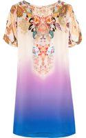 Etro Printed Ombré Silk-crepe Mini Dress - Lyst