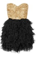 Rare Opulence Sequined And Ruffled Tulle Dress - Lyst
