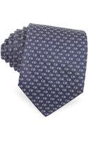 Dior Small Logo Woven Silk Tie - Lyst