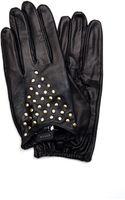 Mango Stud Leather Gloves - Lyst