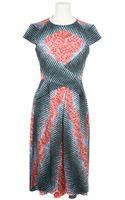 Peter Pilotto Multicolored Silk-blend Dress - Lyst