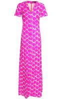 Balenciaga Printed Silk Twill Column Dress - Lyst