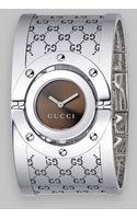 Gucci Twirl Collection Stainless Steel Watch Brown - Lyst