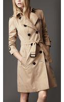Burberry Cotton Gabardine Heritage Trench Coat - Lyst