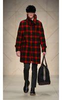 Burberry Prorsum Check Felted Wool Oversize Sculptural Coat - Lyst
