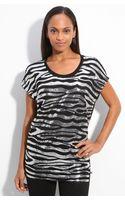 MICHAEL Michael Kors Sequin Zebra Pattern Top - Lyst