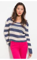 Splendid Cable Stripe Sweater - Lyst
