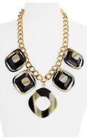 Tory Burch Square Statement Necklace - Lyst