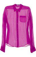 Jil Sander Sheer Silk-organza Shirt - Lyst