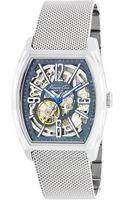 Kenneth Cole Barrel Case Automatic Watch - Lyst