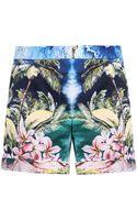 Stella McCartney Aude Hawaiian-print Shorts - Lyst
