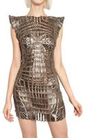 Paco Rabanne Metal Chain and Python Insert Dress - Lyst