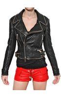 Philipp Plein Chain Trim Nappa Leather Jacket - Lyst