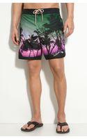 Ted Baker Print Swim Shorts - Lyst