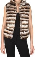 Vicedomini Rabbit Fur Vest - Lyst