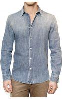 Closed Washed Denim Shirt - Lyst