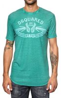 DSquared2 Cotton Linen Jersey T-shirt - Lyst