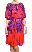 Giambattista Valli Floral Print Silk Chiffon Dress - Lyst