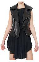 Hakaan Nappa Vest Leather Jacket - Lyst