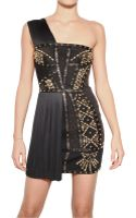 Versace Studded 3d Jersey Dress - Lyst