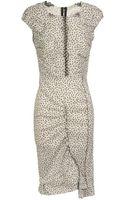 Nina Ricci Daisy Printed Stretch Linen Dress - Lyst