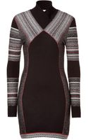 Matthew Williamson  Paneled Knit Dress - Lyst