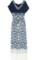 Oscar de la Renta Printed Silk Kaftan - Lyst