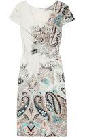 Etro Paisley-print Stretch Cotton-blend Dress - Lyst