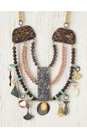 Free People Copper Charm Collar - Lyst