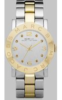 Marc By Marc Jacobs Crystal Accented Two-tone Stainless Steel Watch - Lyst