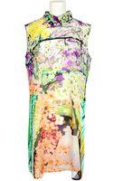 Mary Katrantzou Silk Georgette Printed Dress - Lyst